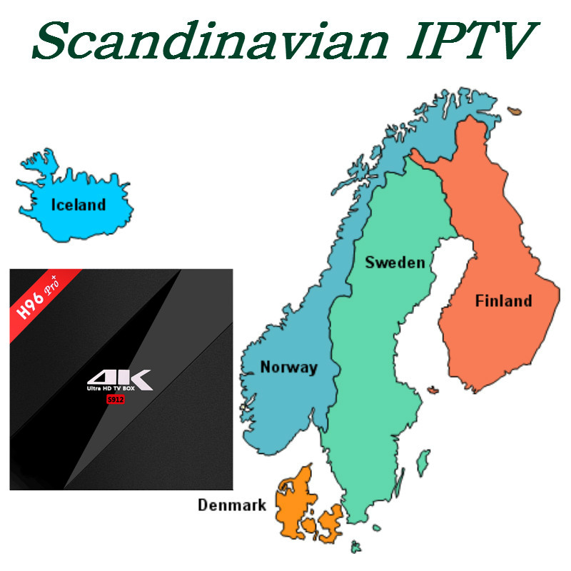 4000+Channel Scandinavia IPTV with H96 Pro+ IPTV box Android TV BOX Set top box S912 3/32GB  EX-YU xxx US iptv evpad pro