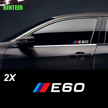 2pcs power motorsport car windows sticker for bmw E30 E34 E36 E39 E46 E60 E87 E90 LOGO car rearview mirror sticker for BMW image