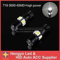 Darmowa wysyłka 2 sztuk/partia T10 o wysokiej jasności z obiektyw projektora led światła samochodu W5W 194 168 Auto żarówki światła odprawy lampa