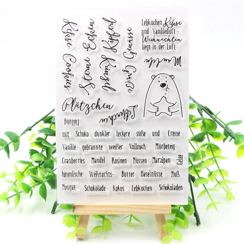 YPP CRAFT New Transparent Clear Silicone Stamps for DIY Scrapbooking/Card Making/Kids Fun Decoration Supplies