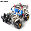 Cross-country Vehicle Constructor Toy 262Pcs/Set Metal Enlighten Assembly Model Building Kits Blocks Toys For Boys Girls Gifts