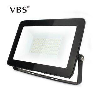 Ip66 conduziu a luz de inundação 10 w 30 50 100 150 ultra fina luz de inundação led holofotes ao ar livre 220 v lâmpada de parede projetor projector