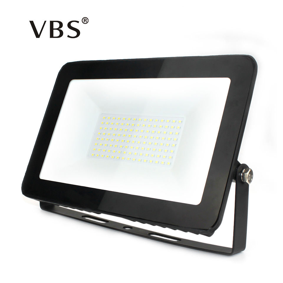 где купить LED Floodlight 150W 100W 50W 30W 10W Ultra Thin Led Flood Light Spotlight Outdoor 220V IP66 Outdoor Wall Lamp Flood Light Led дешево