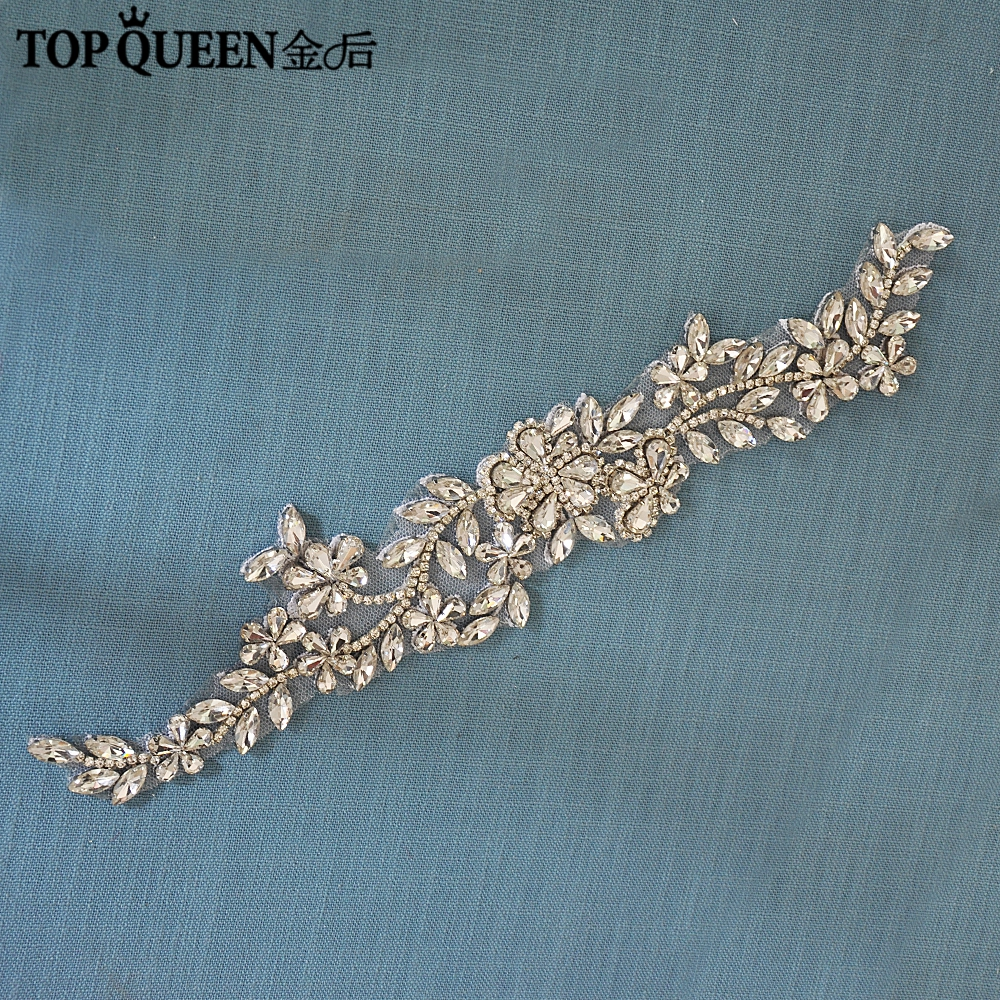TOPQUEEN S283 Sparkle Belt For Wedding Dress Rhinestone Wedding Belts And Sashes Bridesmaid Dress Belt  Beaded Belt