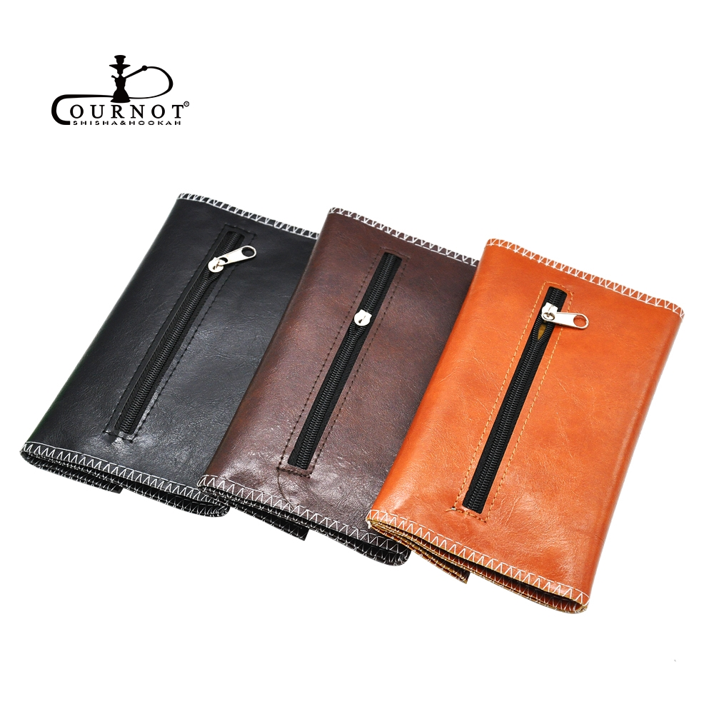 PU Leather <font><b>Tobacco</b></font> Bag Portable Cigarette Rolling Pipe <font><b>Tobacco</b></font> Pouch <font><b>Case</b></font> Wallet Tip Paper Holder Accessories image