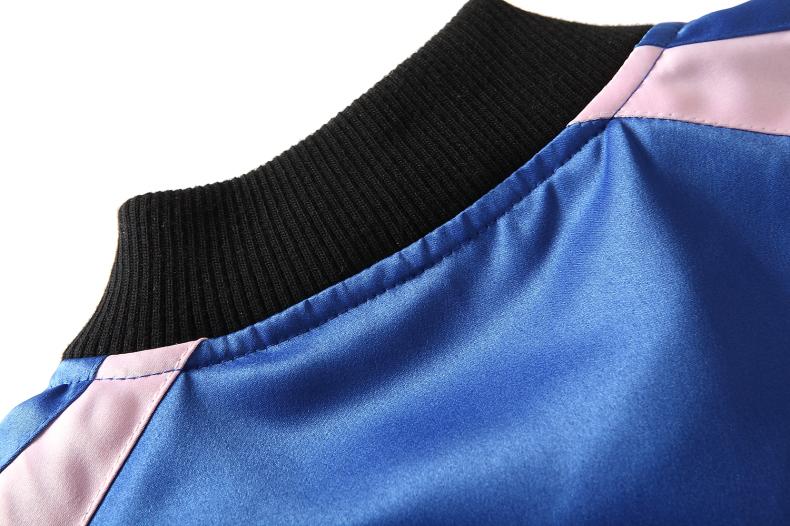 Custom Embroidered Satin Jacket 8