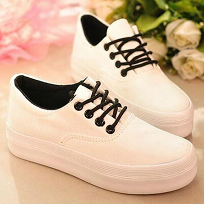 NEW Fashion women sneakers formal white