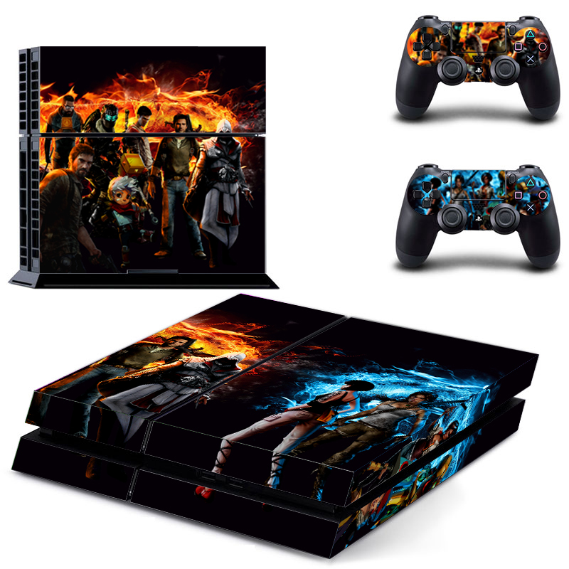 font b Game b font Collection PS4 Sticker For Playstation 4 2Pcs Controller Skin font
