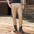 Brand New Men Casual Pants Khaki Cargo Pants Top Quality hip hop Pocket pant Plus Size 100% Cotton Long Trousers For men