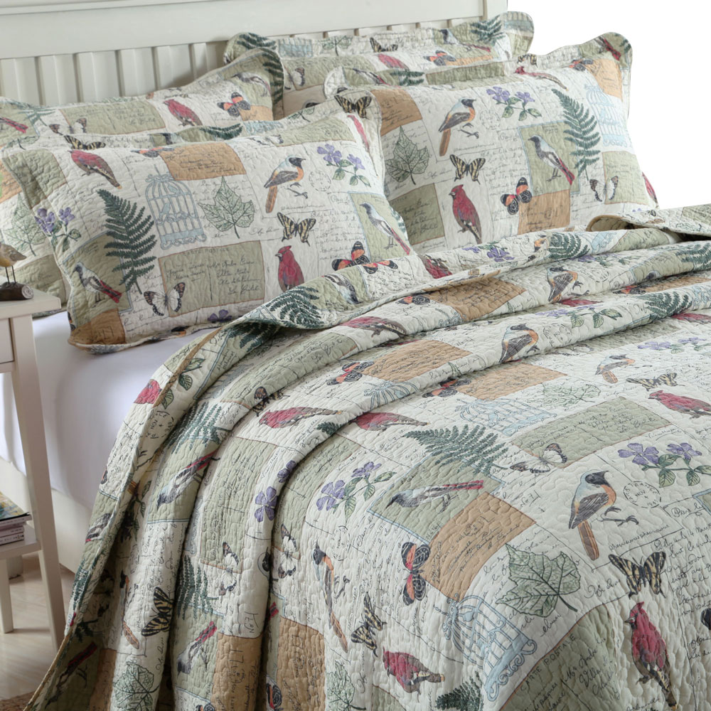 100 Cotton American Quilting Set Bed Cover Bed Pastoral