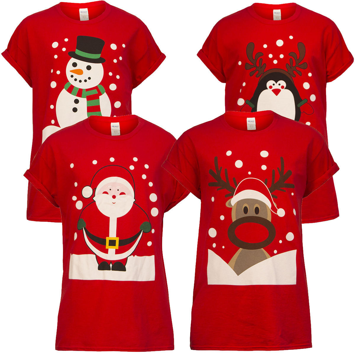HIRIGIN 2018 Fashion Hot Men Women Adults Unisex Novelty Christmas Xmas T-shirt Top Casual Tee Festive Gift