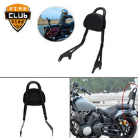 for Yamaha Star Bolt 950 XV950 XVS950 2014 2017 Black Motorcycle Backrest Rear Passenger Sissy Bar Bracket w/ Cushion Pad