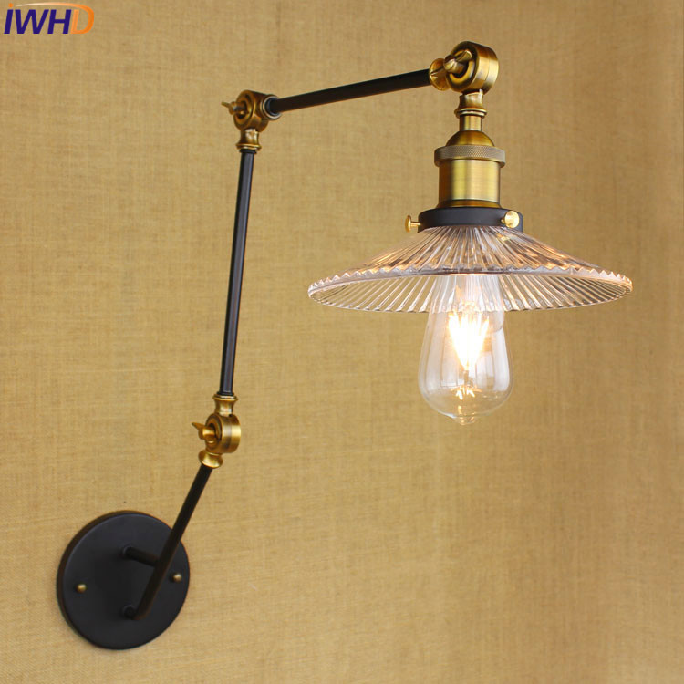 Kind-Hearted Iwhd Black Retro Vintage Wall Lights For Home With Switch Long Arm Wall Lamp Industrial Wall Sconce Edison Style Lighting Led Indoor Wall Lamps