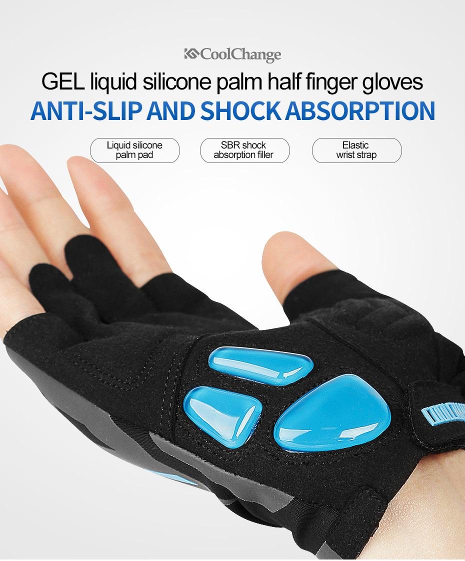 sweat Men Glove Women Long Finger Breathable Silicone Gel Pad Suede Mtb Mountain Gloves Black M L Xl Apparel Accessories Anti-shock Anti