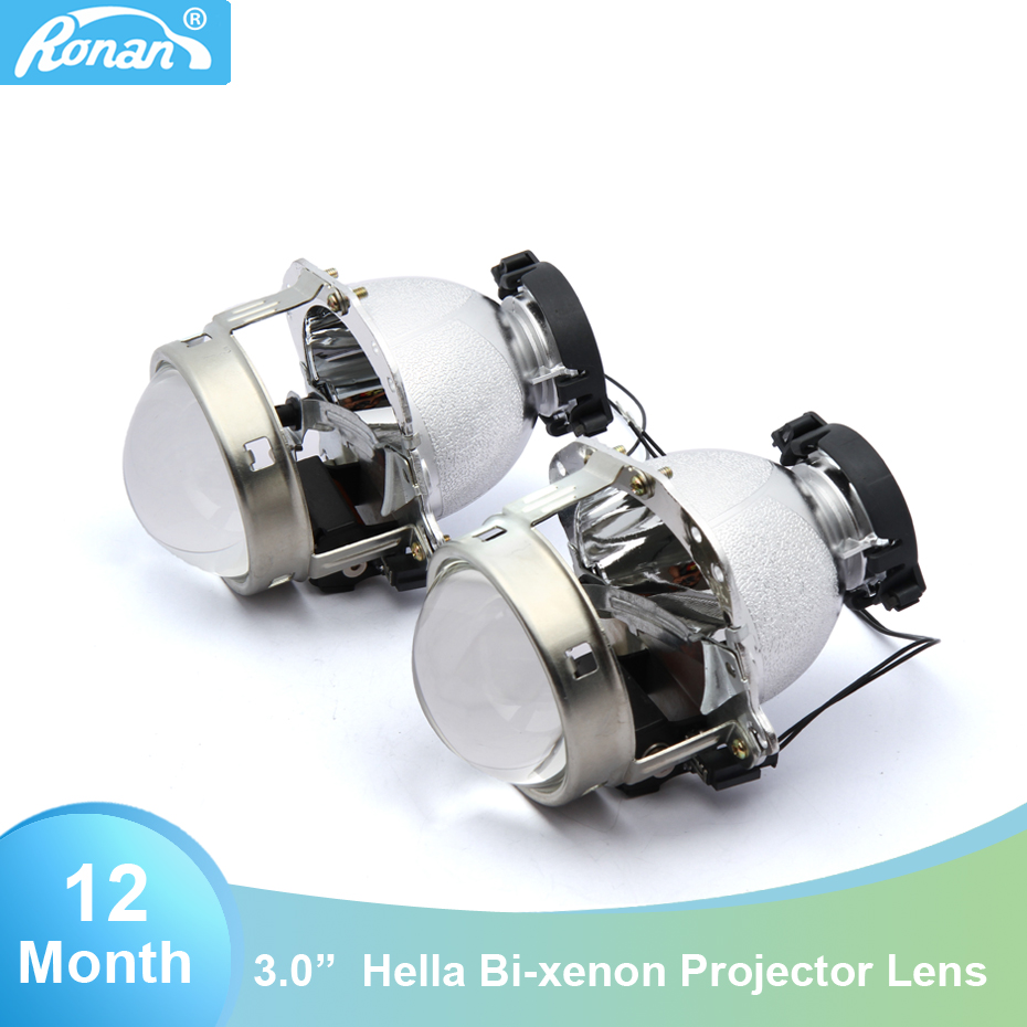 RONAN 3.0'' hella D2S Bi-Xenon Headlights Projector Lens Car Styling for BWM E60 HID D1S D2S D3S D4S for Auto Lamp Retrofit new m803 2 5 car motorcycle universal headlights hid bi xenon projector kit and m803 hid projector lens for free shipping
