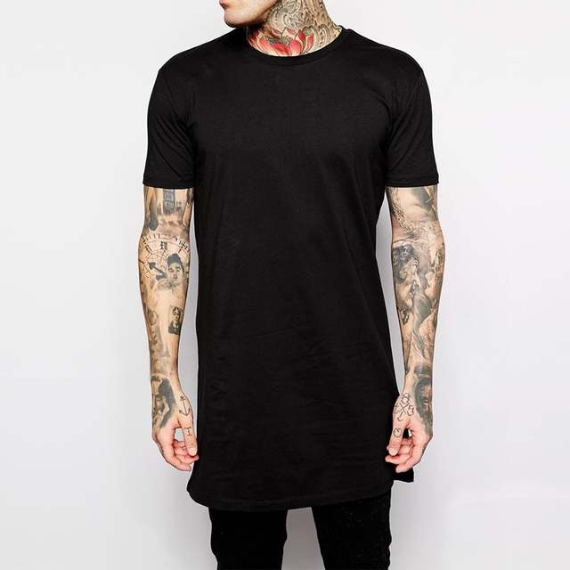 eb33a1b02 placeholder 2019 nueva marca ropa para hombre negro t camisa de los hombres  Tops Hip hop tee