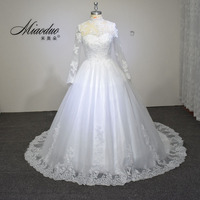 Vestidos de noiva ball gown wedding dress long sleeves wedding dresses 2016 pearls tulle vestido de.jpg 200x200