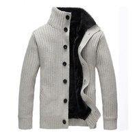 WIIVIP новый для мужчин брендовые зимние теплые Кардиган Сгущает свитер пальто вязаный толстый кардиганы для женщин mz076