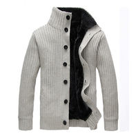 WIIVIP New Men Brand Winter Warm Men's Cardigan Thicken Sweater Coat Men's Knitted Thick Cardigans mz076