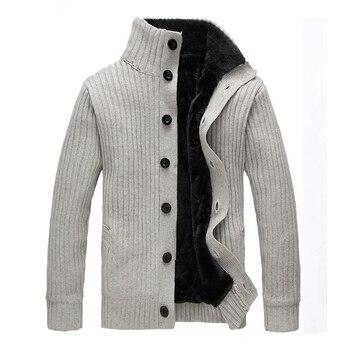 grueso cálido marca nuevos WIIVIP cárdigan hombres suéter invierno wIaqqOY