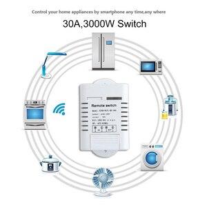Image 3 - 30A Wifi relais commutateur ca 110V 220V 1CH bricolage Modules dautomatisation récepteur maison intelligente et émetteur récepteur universel Ev1527 433MHz RF