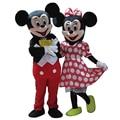 De alta Calidad De Mickey y Minnie Traje de La Mascota Tamaño Adulto Disfraz de Halloween Cosplay Carnival Costume Dos Pcs Shipp Libre