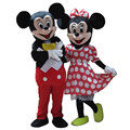 High Quality For Mickey and Minnie Costume Mascot Adult Size Fancy Costume Halloween Cosplay Carnival Costume Two Pcs Free Shipp