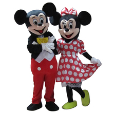 Alta Qualidade Para mouse Traje Da Mascote Tamanho Adulto Traje Fantasia Halloween Cosplay Carnaval Costume Dois Pcs Shipp Livre