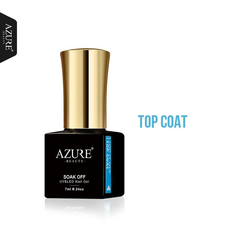 Azure Beauty Base & Top Coat Gel Nail Polish Varnish Long-lasting Soak Off UV Led Primer Nail Gel Polish Base Top Coat Gel