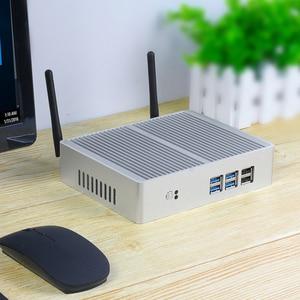 Image 2 - Tanie Intel Core i5 7200U 4210Y i3 7100U i7 5500U bez wentylatora Mini PC z systemem Windows 10 komputer PC DDR3L WiFi HDMI VGA HD Graphics 5500