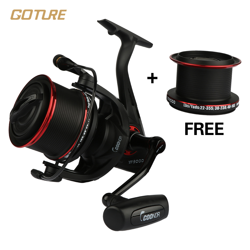 ФОТО Goture Full Metal Double Spools Spinning Reel 12+1BB Ratio 4.6:1 Distant Fishing Wheel Tackle Max Drag 18KG