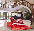 Euro y ee.uu. estilo moderno rojo supremo carpet alfombra de moda en blanco de calidad superior 150x200 cm