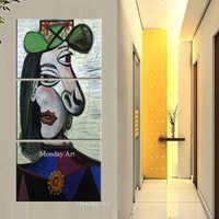 Dipinto a mano di Pablo Picasso dipinti famosi sogno ragazza pittura astratta figura pittura a olio su tela di canapa Modernismo Cubismo di Arte Della Parete