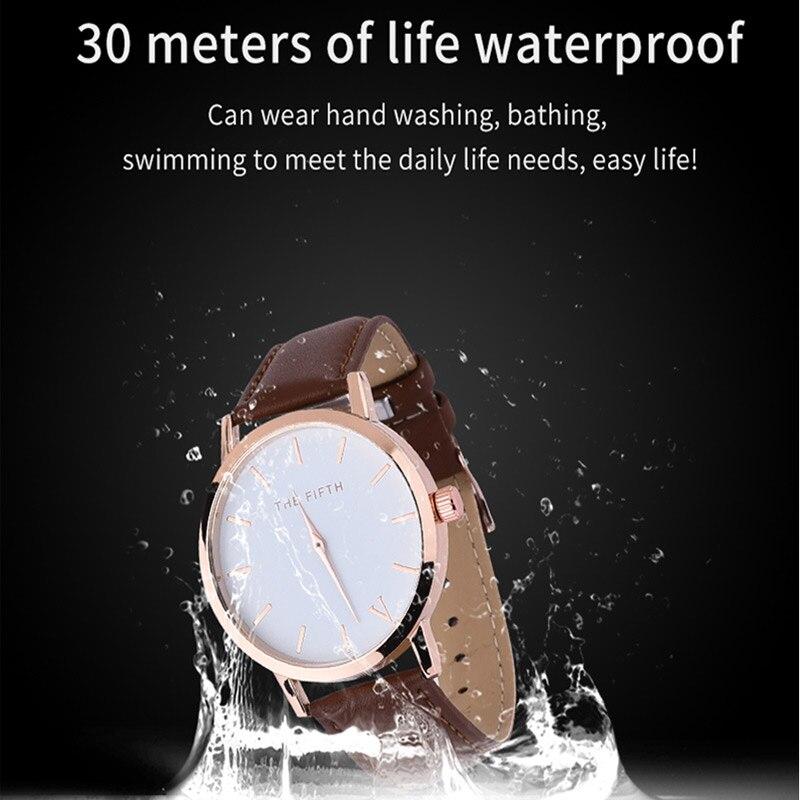 μάρκα δερμάτινο ρολόι πλήρης μαύρο - Γυναικεία ρολόγια - Φωτογραφία 6