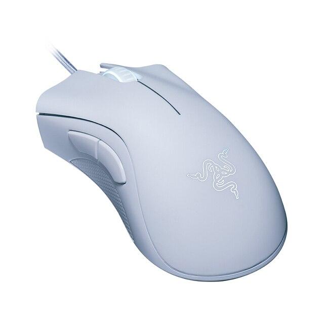 Original razer deathadder essencial wired gaming mouse ratos 6400dpi sensor óptico 5 independentemente botões para computador portátil gamer 2
