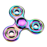 Rainbow Fidget Spinner Metal Finger Hand Spinner Autism ADHD Handspinner Anti Stress Relieve Fidget Spinners Funny EDC Toy