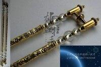 Nubes antiguas artesanías tallado de titanio mango de color Club de hotel en las manos de la manija de cristal de alta calidad europea