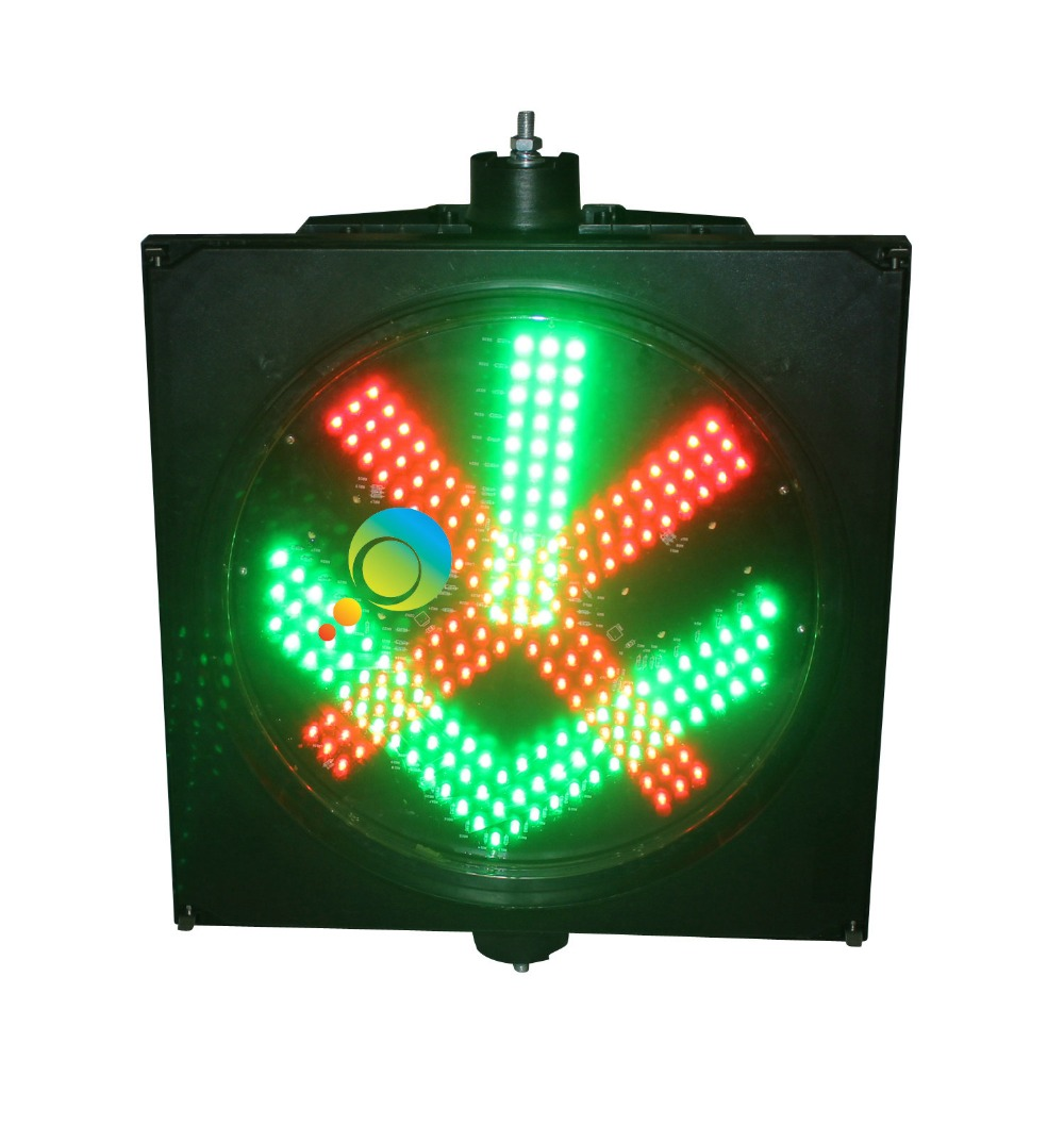 High Quality 400mm Toll Station Lights Cold-rolled Plate Red Cross Green Arrow Trafic Light
