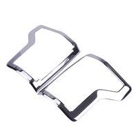 CITALL 1 Pair Chrome Car Tail Rear Light Lamp Bumper Hood Cover Trim Bezel Molding Fit for Ford F150 2015 2016 2017 2018 2019