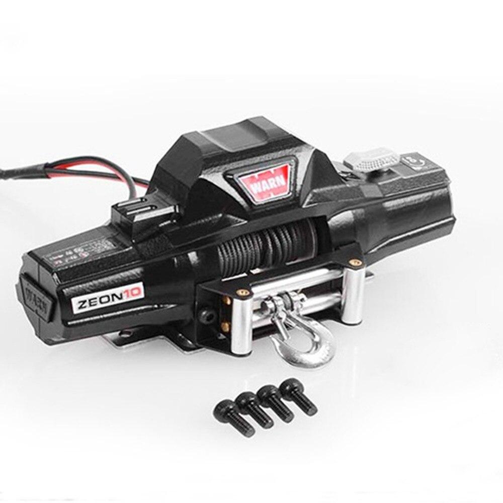 MASiKEN simulado metal doble motor del cabrestante para 1/8 Rock Crawler RC4WD D90 Axial SCX10 TRX-4 KM2 RC repuestos