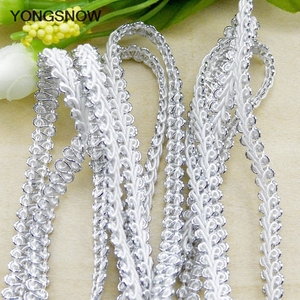 Image 4 - 5m Gold Silver Lace Trim Ribbon Curve Lace Fabric Sewing Centipede Braided Lace Wedding Craft DIY Clothes Accessories Xmas Decor