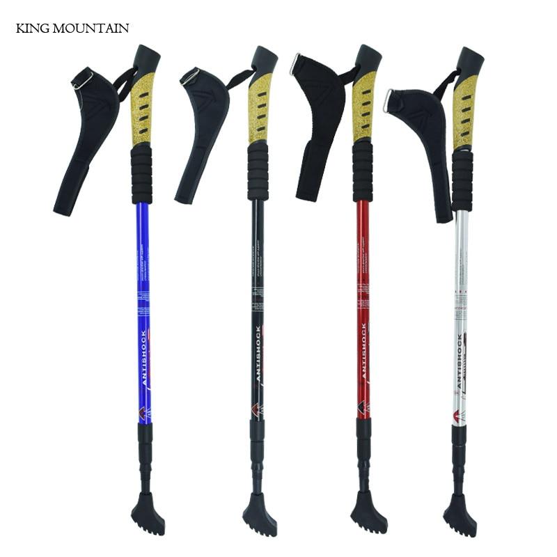 Trekking Pole Sticks Aviation Aluminum Alloy Walking Stick SDD Lock System Alpenstock,Hiking Stick Free Adjustable Length