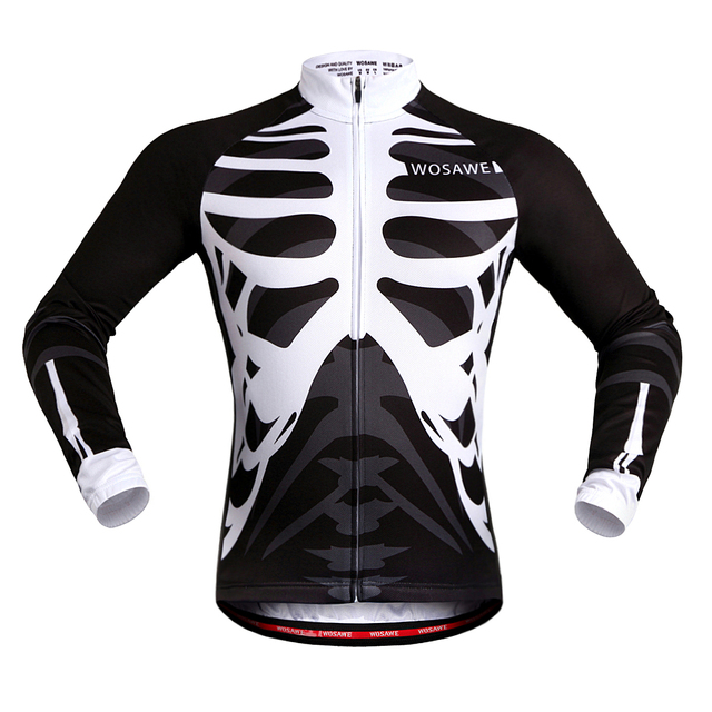 WOSAWE Quick Dry Cycling Jersey Long Sleeve Summer Spring Breathable Men's Shirt Bicycle Wear Racing Tops Cycling Clothings