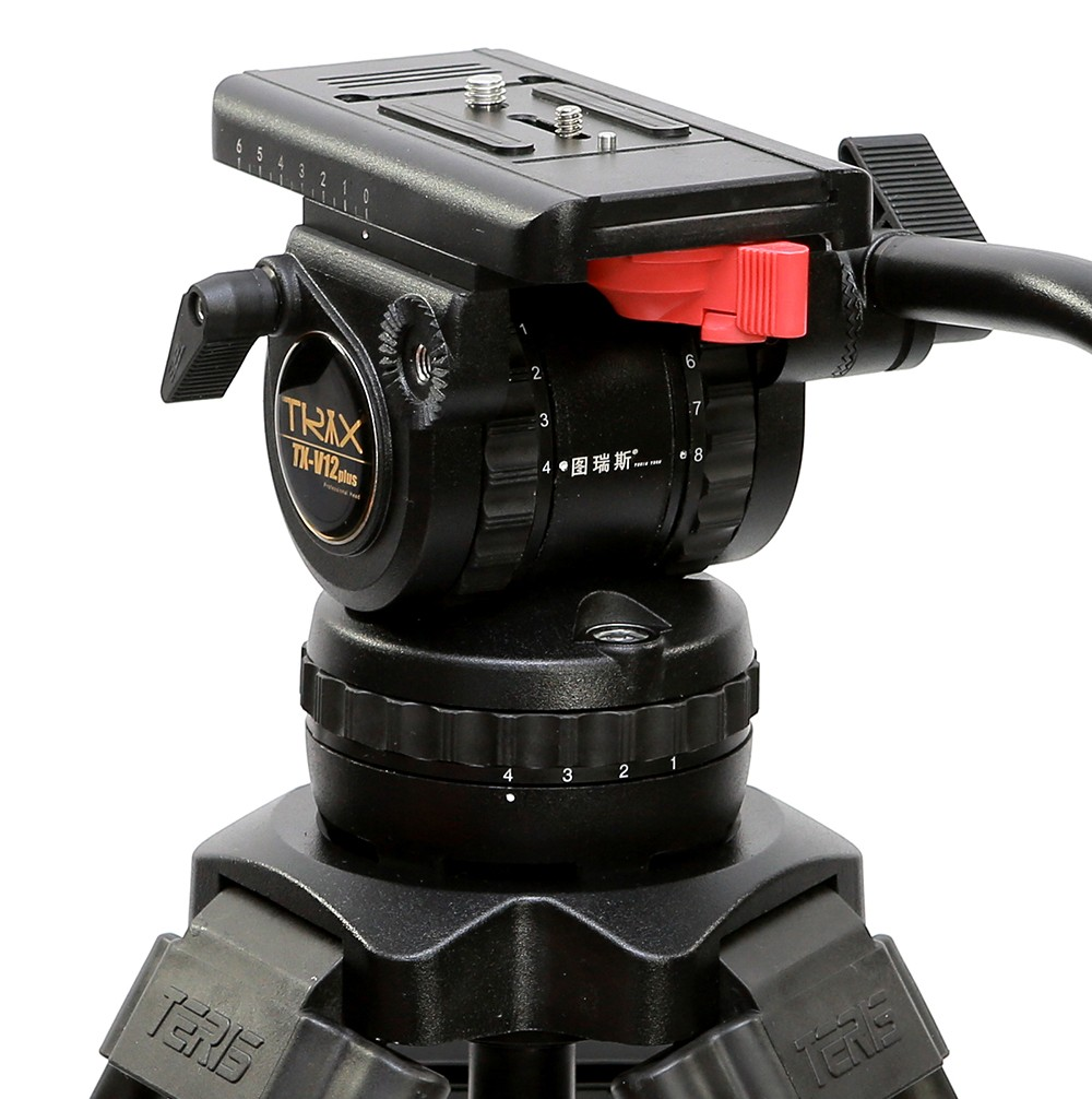 Aluminum alloy TS120 Professional Tripod Head Fluid Head 100mm bowl 12KG payload for DSLR Camera Video Shooting asxmov alum 8kg payload hydraulic tripod head panoramic head for camera video shooting photography tripod head
