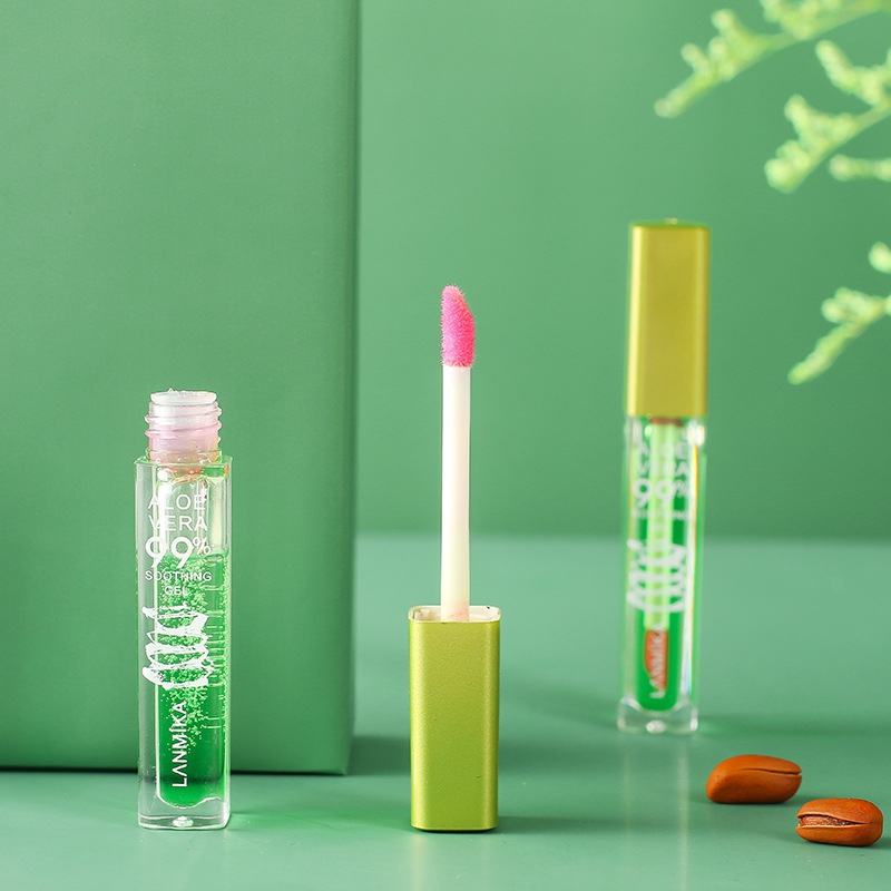 Aloe Vera Color Lip Gloss Moisturizing Non-stick Cup Temperature Change Liquid Lip Balm