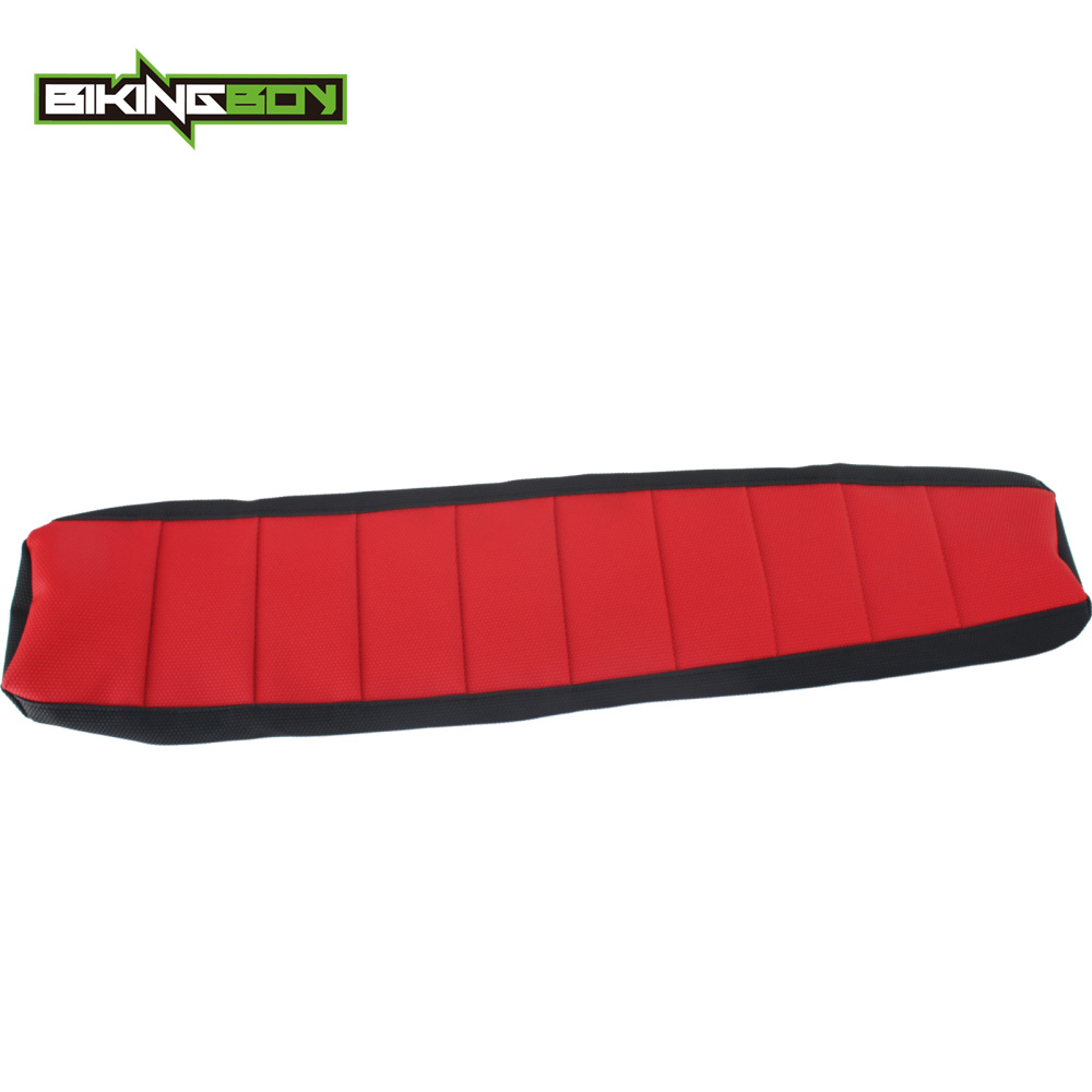 BIKINGBOY Red MX Motocross Offroad Ribbed Gripper Soft Seat Cover for Honda CRF150R CRF 150R CRF 150 R 07-10 11 12 13 14 15 2016