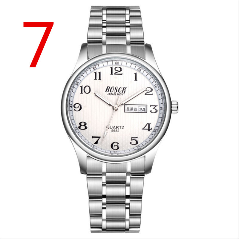Mens Watches Top Brand Luxury Sport Quartz Watch Men Business Stainless Steel Silicone Waterproof Wristwatch relogio