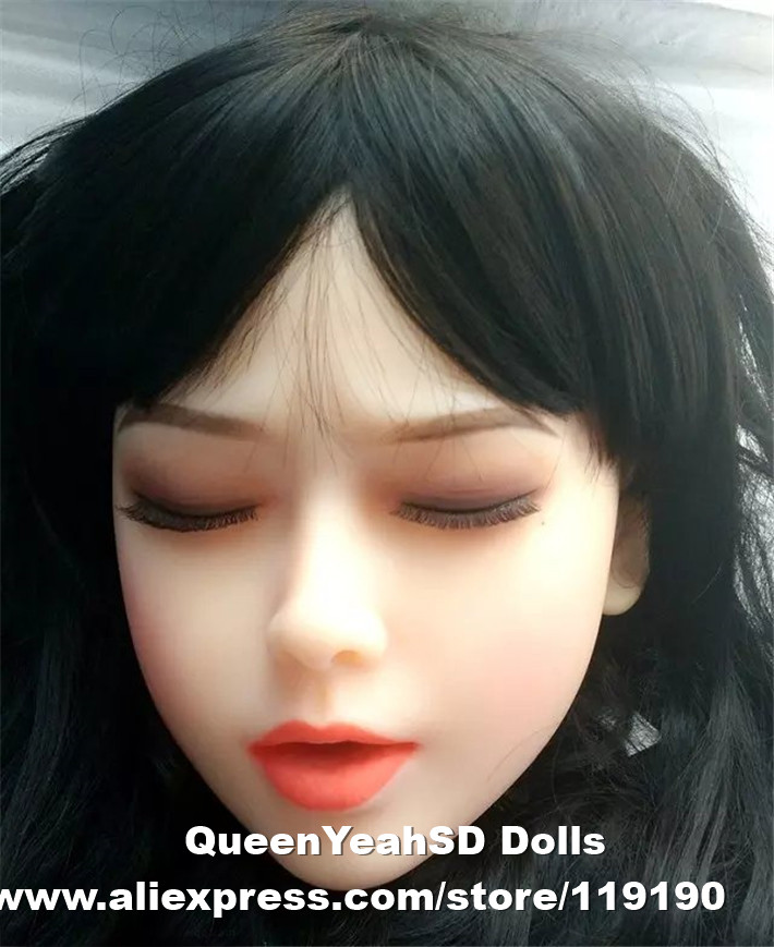 Top quality sex doll head full silicone love doll, realistic sexy doll, sex toy for men with oral