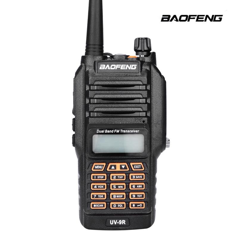 2017 New Baofeng UV 9R Handheld Walkie Talkie 8W UHF VHF UV Band IP67 Waterproof Scanner