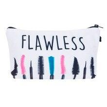 Flawless Neceser Portable Make Up Bag Case 3D Printing makeup Bag Organizer Bolsa feminina Travel Toiletry bags Cosmetic Bag